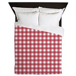 Gingham Checked Red Queen Duvet