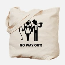 No Way Out! (Whip and Beer) Tote Bag