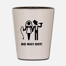 No Way Out! (Whip and Beer) Shot Glass