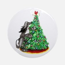Afghan Hound Black ReachGoals Ornament (Round)