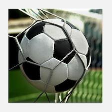 Soccer Goal Tile Coaster