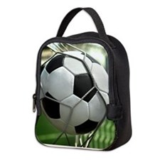 Soccer Goal Neoprene Lunch Bag