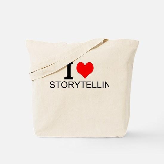 I Love Storytelling Tote Bag
