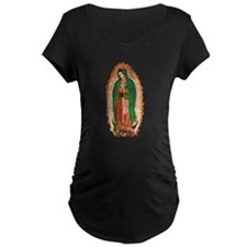 Our Lady of Guadalupe Maternity black T-Shirt