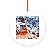 Juan Gris - Deck of a Transatlantic Round Ornament