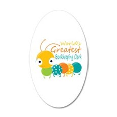World's Greatest Bookkeeper 20x12 Oval Wall Decal