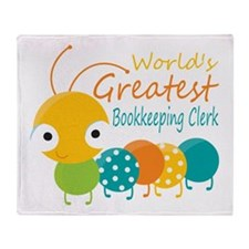 World's Greatest Bookkeeper Throw Blanket