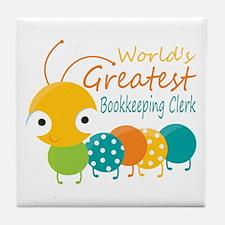 World's Greatest Bookkeeper Tile Coaster