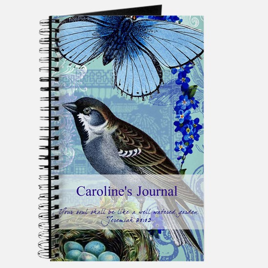 Personalized Bluebird Garden Journal
