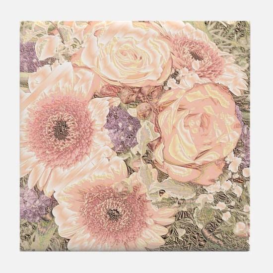 Cute Cream colored Tile Coaster