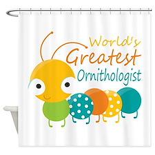 World's Greatest Ornithologist Shower Curtain