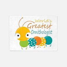 World's Greatest Ornithologist 5'x7'Area Rug