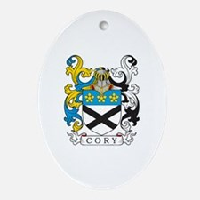 Cory Family Crest Oval Ornament