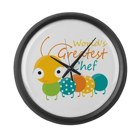 World's Greatest Chef Large Wall Clock