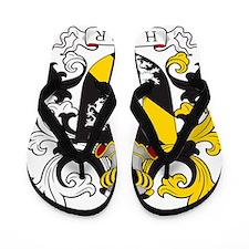 Hamer Family Crest Flip Flops