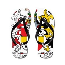 Pennell Family Crest Flip Flops