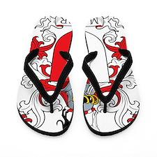 Marker Family Crest Flip Flops