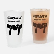 Karate Student Drinking Glass