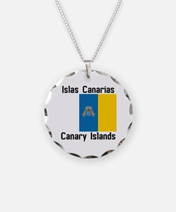 Canary Islands Necklace Circle Charm