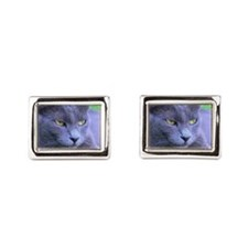 Cool Cat Rectangular Cufflinks