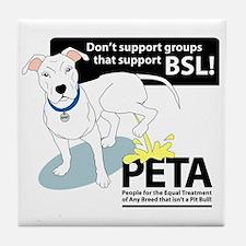 Pit Bull PETA BSL Tile Coaster