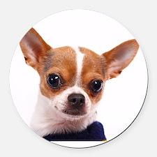 Cute Chihuahua Round Car Magnet