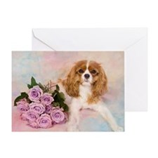 Cavalier King Charles Spaniel With R Greeting Card