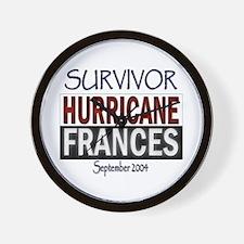 Hurricane Frances Survivor Wall Clock