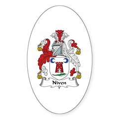 Niven Oval Decal