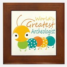 World's Greatest Archaeologist Framed Tile