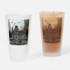 Haunted Halloween House 2 Drinking Glass