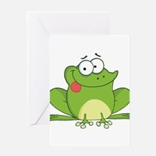 Silly Frog-2 Greeting Cards