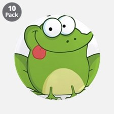 """Silly Frog-2 3.5"""" Button (10 pack)"""