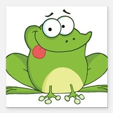 """Silly Frog-2 Square Car Magnet 3"""" x 3"""""""