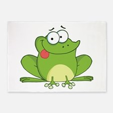 Silly Frog-2 5'x7'Area Rug