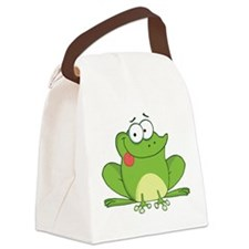 Silly Frog-2 Canvas Lunch Bag