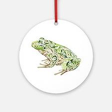 Filligree Frog Ornament (Round)