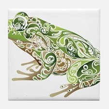 Filligree Frog Tile Coaster