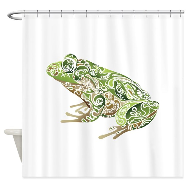 Filligree Frog Shower Curtain By UnderTheSea2