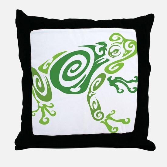 Frog Tattoo Throw Pillow