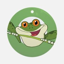 Frog Stamp-2 Ornament (Round)