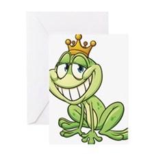 Frog Prince-2 Greeting Cards
