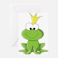 Baby Frog Prince Greeting Cards