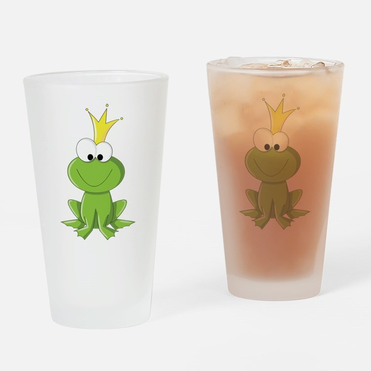 Baby Frog Prince Drinking Glass