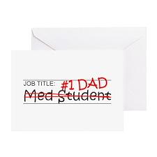 Job Dad Med Student Greeting Card