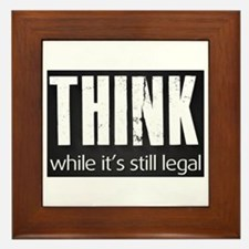 Think sign Framed Tile