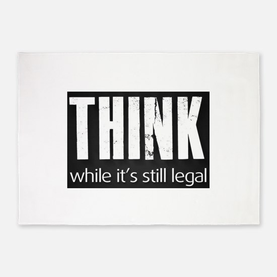 Think sign 5'x7'Area Rug
