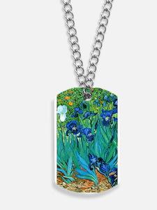 Van Gogh Garden Irises Nook Sleeve Dog Tags