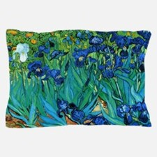 Funny Van gogh irises Pillow Case