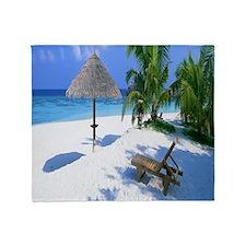 Beach Rest Throw Blanket